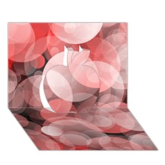 Modern Bokeh 10 Apple 3D Greeting Card (7x5)