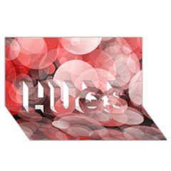 Modern Bokeh 10 Hugs 3d Greeting Card (8x4)