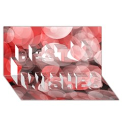 Modern Bokeh 10 Best Wish 3d Greeting Card (8x4)