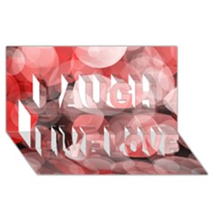 Modern Bokeh 10 Laugh Live Love 3d Greeting Card (8x4)