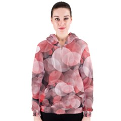 Modern Bokeh 10 Women s Zipper Hoodies