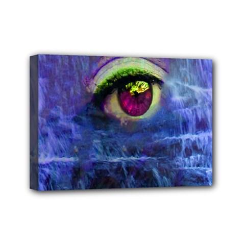 Waterfall Tears Mini Canvas 7  X 5