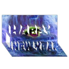 Waterfall Tears Happy New Year 3d Greeting Card (8x4)
