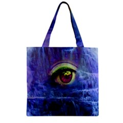 Waterfall Tears Zipper Grocery Tote Bags