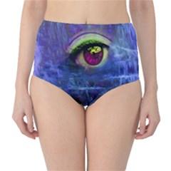 Waterfall Tears High-Waist Bikini Bottoms