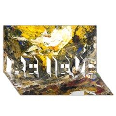 Surreal Believe 3d Greeting Card (8x4)