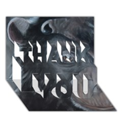 Humans Thank You 3d Greeting Card (7x5)
