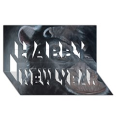 Humans Happy New Year 3d Greeting Card (8x4)