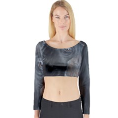 Humans Long Sleeve Crop Top