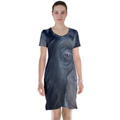 Humans Short Sleeve Nightdresses