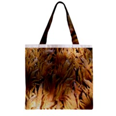 Sago Palm Zipper Grocery Tote Bags