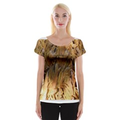 Sago Palm Women s Cap Sleeve Top