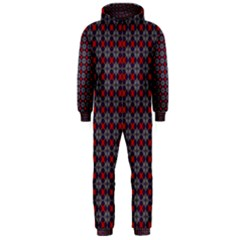 Cute Pretty Elegant Pattern Hooded Jumpsuit (men)