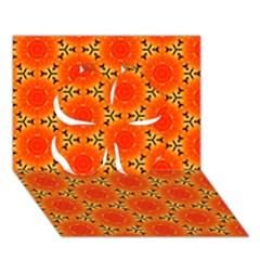 Cute Pretty Elegant Pattern Clover 3D Greeting Card (7x5)