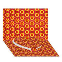 Cute Pretty Elegant Pattern Heart Bottom 3d Greeting Card (7x5)
