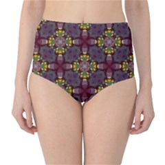 Cute Pretty Elegant Pattern High-Waist Bikini Bottoms