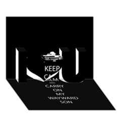 Keep Calm and Carry On My Wayward Son I Love You 3D Greeting Card (7x5)