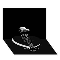 Keep Calm And Carry On My Wayward Son Heart Bottom 3d Greeting Card (7x5)