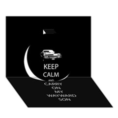 Keep Calm And Carry On My Wayward Son Circle 3d Greeting Card (7x5)