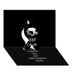 Keep Calm And Carry On My Wayward Son Ribbon 3d Greeting Card (7x5)