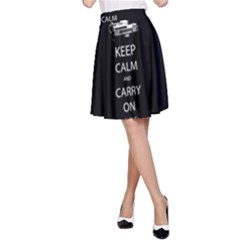 Keep Calm and Carry On My Wayward Son A-Line Skirts