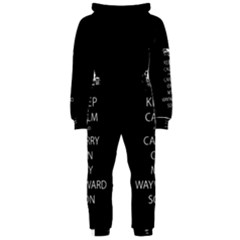 Keep Calm and Carry On My Wayward Son Hooded Jumpsuit (Ladies)