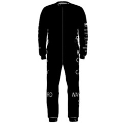 Keep Calm and Carry On My Wayward Son OnePiece Jumpsuit (Men)