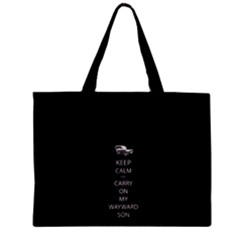 Keep Calm and Carry On My Wayward Son Tiny Tote Bags