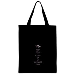 Keep Calm And Carry On My Wayward Son Classic Tote Bags
