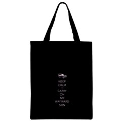 Keep Calm and Carry On My Wayward Son Zipper Classic Tote Bags