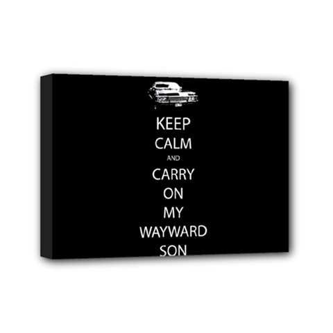 Keep Calm And Carry On My Wayward Soncanvas 7  X 5  (framed)