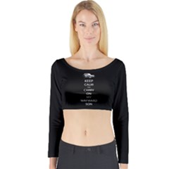 BLACK Long Sleeve Crop Top (Tight Fit)