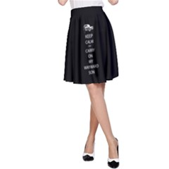 Keep Calm and Carry On My Wayward Son A-Line Skirt