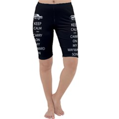 Keep Calm And Carry On My Wayward Son Cropped Leggings