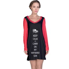 Carry On Centered Long Sleeve Nightdresses