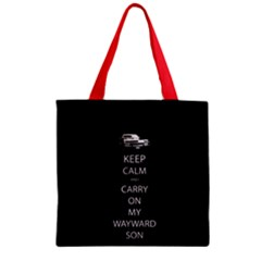 Carry On Centered Zipper Grocery Tote Bags