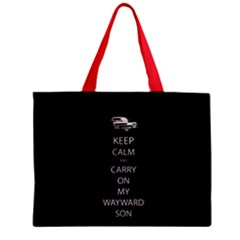 Keep Calm And Carry On My Wayward Son Zipper Mini Tote Bag