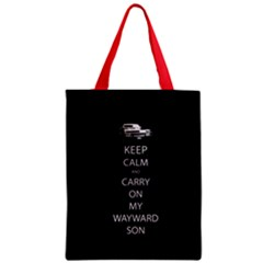 Keep Calm and Carry On My Wayward Son Zipper Classic Tote Bag