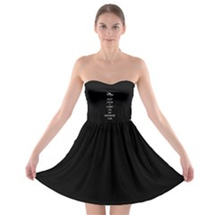 Keep Calm and Carry On My Wayward Son Strapless Bra Top Dress