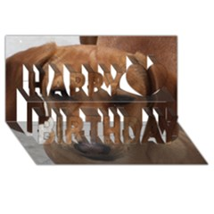 Dachshund Happy Birthday 3D Greeting Card (8x4)