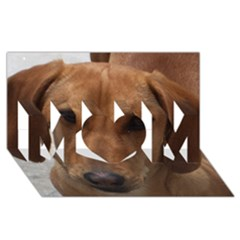 Dachshund MOM 3D Greeting Card (8x4)