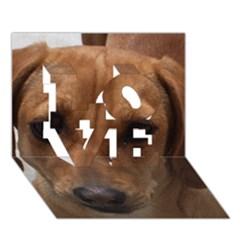 Dachshund LOVE 3D Greeting Card (7x5)