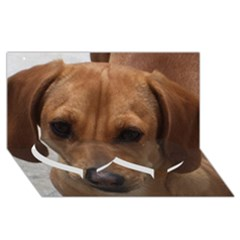 Dachshund Twin Heart Bottom 3D Greeting Card (8x4)