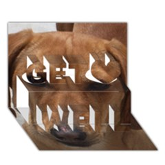 Dachshund Get Well 3D Greeting Card (7x5)