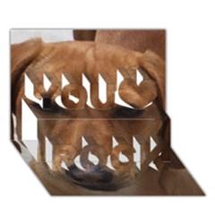 Dachshund You Rock 3D Greeting Card (7x5)