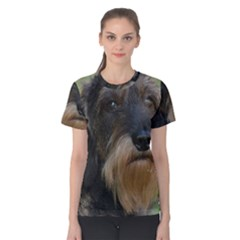 Wirehaired Dachshund Women s Cotton Tees