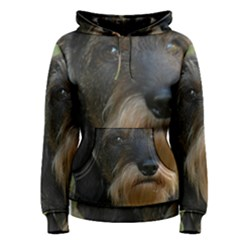 Wirehaired Dachshund Women s Pullover Hoodies