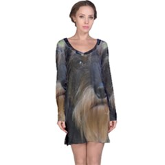 Wirehaired Dachshund Long Sleeve Nightdresses