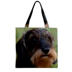 Wirehaired Dachshund Zipper Grocery Tote Bags