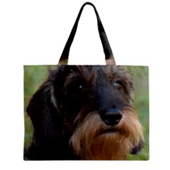 Wirehaired Dachshund Zipper Tiny Tote Bags